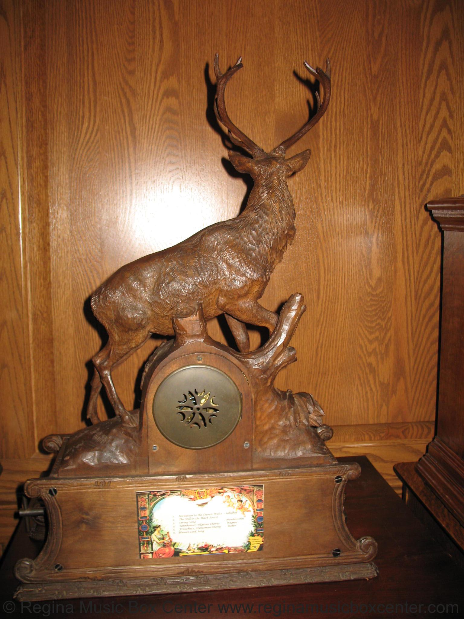 Look Up Number >> Regina Music Box Center: BLACK FOREST HEAVILY CARVED CLOCK ...